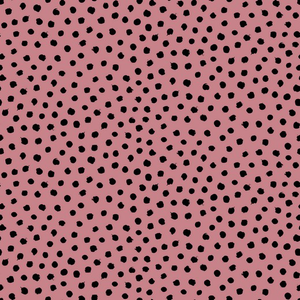 Organic Jersey Fabric - Dots in Old Rose