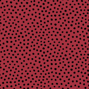 Organic Jersey Fabric - Dots in Red-Jersey Fabric-Jelly Fabrics