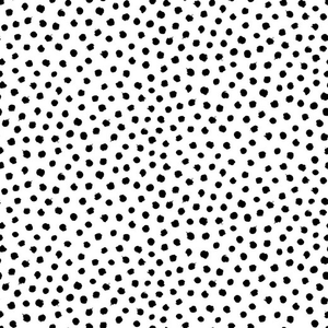 Organic Jersey Fabric - Dots in White-Jersey Fabric-Jelly Fabrics