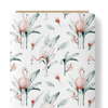 French Terry Knit Fabric - Aquarelle Flamingos