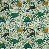 Cotton Jersey Fabric - Floral Dinos in Dusty Green-Jelly Fabrics