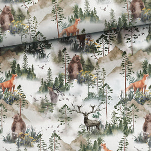 Jersey Fabric - Foggy Forest-Jersey Fabric-Jelly Fabrics