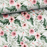 French Terry Fabric - Pink Flower Garden-French Terry-Jelly Fabrics