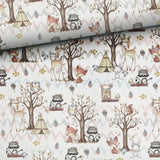 Cotton Fabric Panel - Forest Friends Owl-Jelly Fabrics