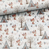 French Terry Knit - Forest Foxes-French Terry-Jelly Fabrics