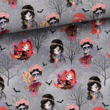 PRE-ORDER!!! - French Terry Fabric - Halloween Fairies in Dark-French Terry-Jelly Fabrics