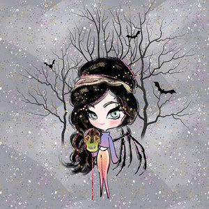 PRE-ORDER!!! - French Terry Knit Panel - Halloween Fairy in Dark-French Terry Panel-Jelly Fabrics