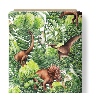 French Terry Knit Fabric - Jurassic Dinosaurs-French Terry-Jelly Fabrics