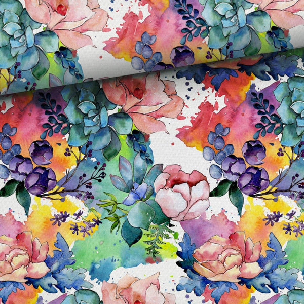 Jersey Fabric - Blooming Flowers
