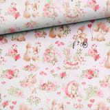 French Terry Fabric - Bunnies in Love-French Terry-Jelly Fabrics