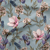 French Terry Fabric - Magnolias and Irises-French Terry-Jelly Fabrics