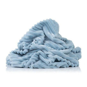 Plush Minky -  Stripes Baby Blue