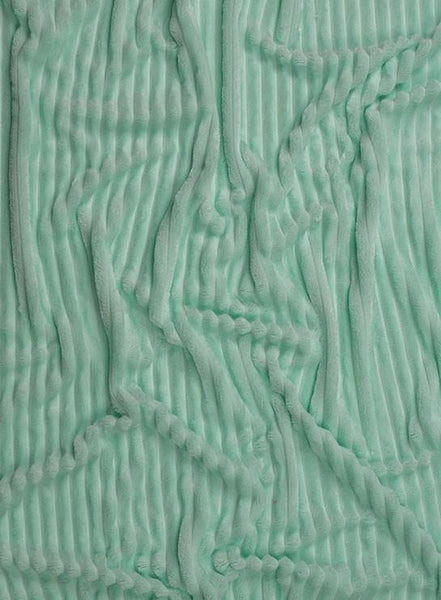 Plush Minky -  Stripes Mint