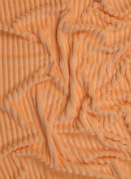 Plush Minky -  Stripes Peach