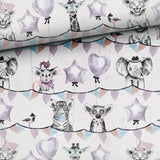 French Terry Knit Fabric - Mono Party Animals-French Terry-Jelly Fabrics