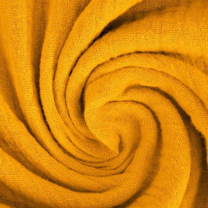 Double Gauze Fabric - Solid in Ochre-Muslin Fabric-Jelly Fabrics