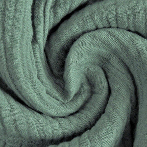 Double Gauze Fabric - Solid in Old Green-Muslin Fabric-Jelly Fabrics