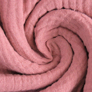 Double Gauze Fabric  - Solid in Old Rose