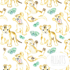PRE-ORDER!!! - Organic Jersey Fabric - Lion Cub Bailey by Allgots-Organic Jersey-Jelly Fabrics