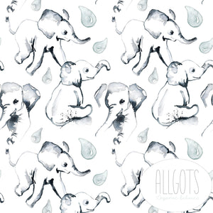 PRE-ORDER!!! - Organic Jersey Fabric - Elephant Robyn by Allgots-Organic Jersey-Jelly Fabrics