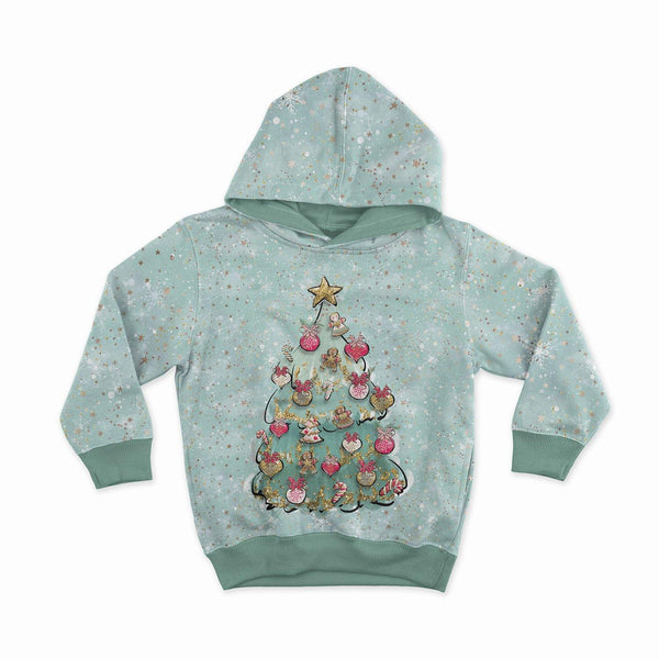 10% OFF - Sweatshirt Knit Panel - Christmas Tree in Mint