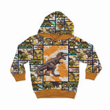 Sweatshirt Knit - T-Rex Comics-Jelly Fabrics