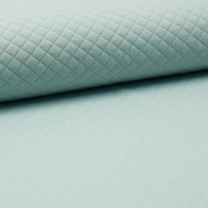 Quilted PolyCotton Jersey Fabric - Solid Dusty Mint-Quilted Jersey-Jelly Fabrics