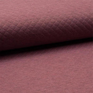 Quilted PolyCotton Jersey Fabric - Solid Old Rose Dark Melange-Quilted Jersey-Jelly Fabrics