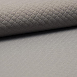 Quilted PolyCotton Jersey Fabric - Solid Taupe-Quilted Jersey-Jelly Fabrics
