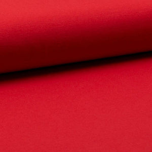 Cotton Jersey Fabric - Solid Red-Jersey Fabric-Jelly Fabrics