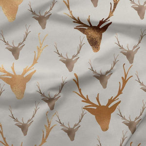 PRE-ORDER!!! - French Terry Fabric - Reindeer (Glitter effect)-French Terry-Jelly Fabrics