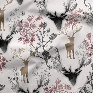 PRE-ORDER!!! - French Terry Fabric - Reindeer in the Woods-French Terry-Jelly Fabrics