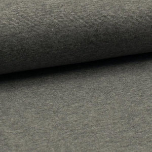 Tubular Rib Knit - Grey Melange ribbing-Rib Knit-Jelly Fabrics