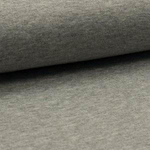 Tubular Rib Knit - Light Grey Melange ribbing-Rib Knit-Jelly Fabrics