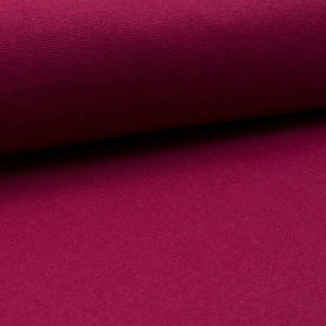 Tubular Rib Knit - Wine tubular ribbing-Rib Knit-Jelly Fabrics