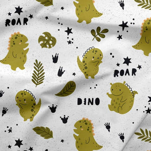 French Terry Fabric - Roar Baby Dinosaurs-French Terry-Jelly Fabrics