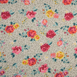 Jersey Fabric - Roses in Sand-Jersey Fabric-Jelly Fabrics