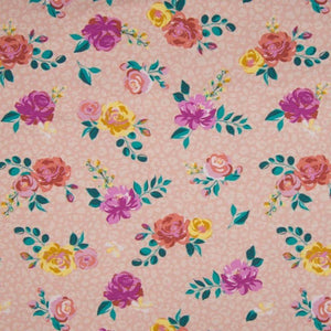 Jersey Fabric - Roses in Old Pink-Jersey Fabric-Jelly Fabrics