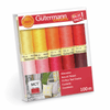 Gutermann Sew-All Thread Set - Assorted Brights Reds (10x 100M)-Jelly Fabrics
