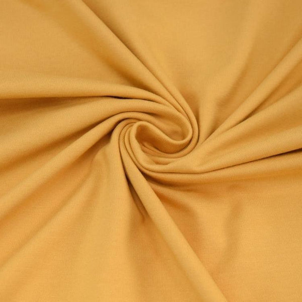 Jersey Fabric - Solid Gold Yellow