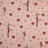 Jersey Fabric - Squirrels in Dusty Pink-Jelly Fabrics