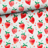 Bamboo Muslin Fabric - Strawberries-Muslin Fabric-Jelly Fabrics