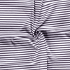 Jersey Fabric - Dark Grey with White Stripes-Jersey Fabric-Jelly Fabrics