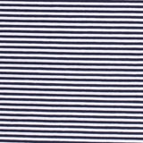 Jersey Fabric - Navy Blue with White Stripes-Jersey Fabric-Jelly Fabrics