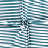 Jersey Fabric - Petrol with White Stripes-Jersey Fabric-Jelly Fabrics