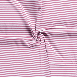 Cotton Jersey Fabric - Old Pink with White Stripes-Jersey Fabric-Jelly Fabrics