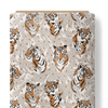 French Terry Fabric - Tigers among Leaves