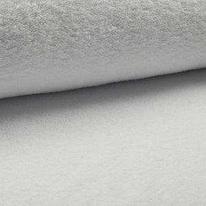 Terry Towelling Fabric - Solid White-Jelly Fabrics