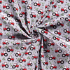 PRE-ORDER!!! - Cotton Jersey Fabric - Red Tractors in Grey