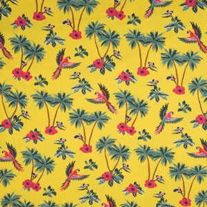 Jersey Fabric - Tropical in Yellow-Jersey Fabric-Jelly Fabrics
